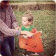 Lily Aldridge et sa fille Dixie déguisée en citrouille pour Halloween 2014