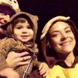 Jaime King et son fils James déguisé en ourson pour Halloween 2014