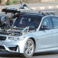 """Exclusif - Tom Cruise à bord d'une BMW avec Simon Pegg, tourne une scène du film """"Mission Impossible 5"""" à Rabat au Maroc le 25 septembre 2014."""
