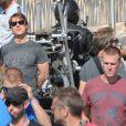 """Exclusif - Tom Cruise à bord d'une BMW tourne une scène du film """"Mission Impossible 5"""" à Rabat au Maroc le 25 septembre 2014."""