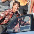 """Exclusif - Tom Cruise tourne une scène du film """"Mission Impossible 5"""" à Rabat au Maroc le 25 septembre 2014."""