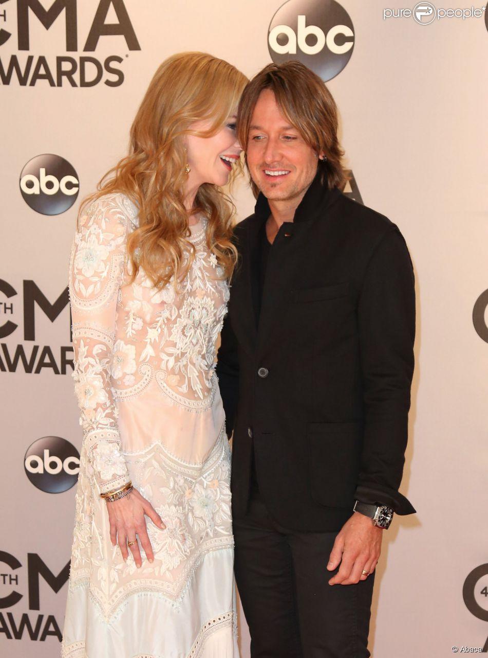 Nicole Kidman et Keith Urban lors de la cérémonie des CMA Awards à Nashville, le 5 novembre 2006.
