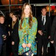 """Mia Goth assiste au dîner """"Louis Vuitton celebrating Monogram"""" organisé par Louis Vuitton au MoMA. New York, le 7 novembre 2014."""