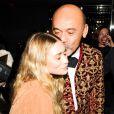 """Ashley Olsen et Christian Louboutin assistent au dîner """"Louis Vuitton celebrating Monogram"""" organisé par Louis Vuitton au MoMA. New York, le 7 novembre 2014."""