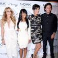 Faye Resnick, Malika Haqq, Kris Jenner et Jonathan Cheban au 1OAK à Las Vegas, le 7 novembre 2014.