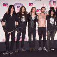 Myles Kennedy, Simon Neil et Slash - Cérémonie des MTV Europe Music Awards à Glasgow, le 8 novembre 2014.