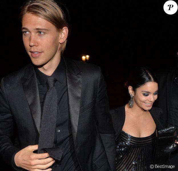 """Exclusif - Vanessa Hudgens et son petit ami Austin Butler arrivant à l'after show du film """"Gimme Shelter"""" au VIP Room à Paris, le 26 octobre 2014"""