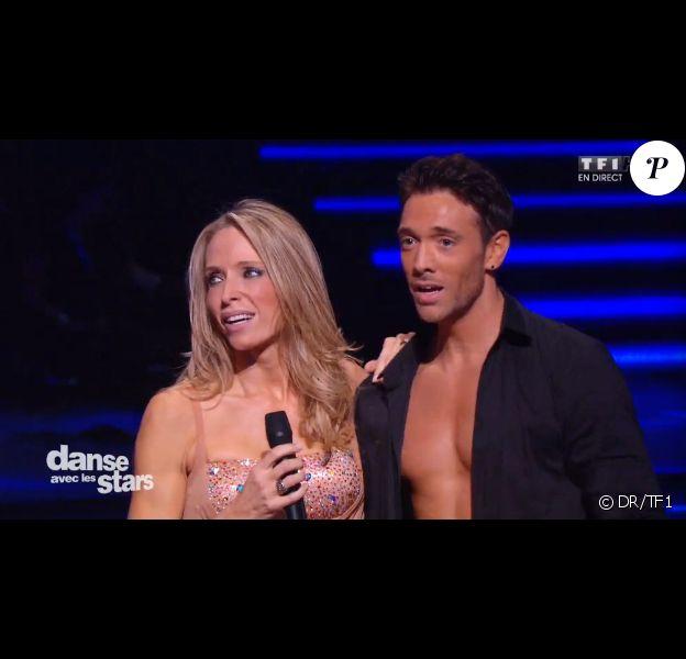 Tonya Kinzinger et Maxime Dereymez dans Danse avec les stars 5, sur TF1, le samedi 27 septembre 2014