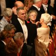 Daniel Day-Lewis lors d'un banquet d'état avec le président d'Irlande Michael D. Higgins le 8 avril 2014 dans le château de Windsor à Londres