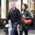 Daniel Day-Lewis avec sa femme Rebecca Miller à New York le 10 avril 2013