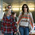 Cindy Crawford lors d'une sortie shopping en famille à Malibu
