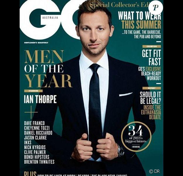 Ian Thorpe pose pour le magazine GQ