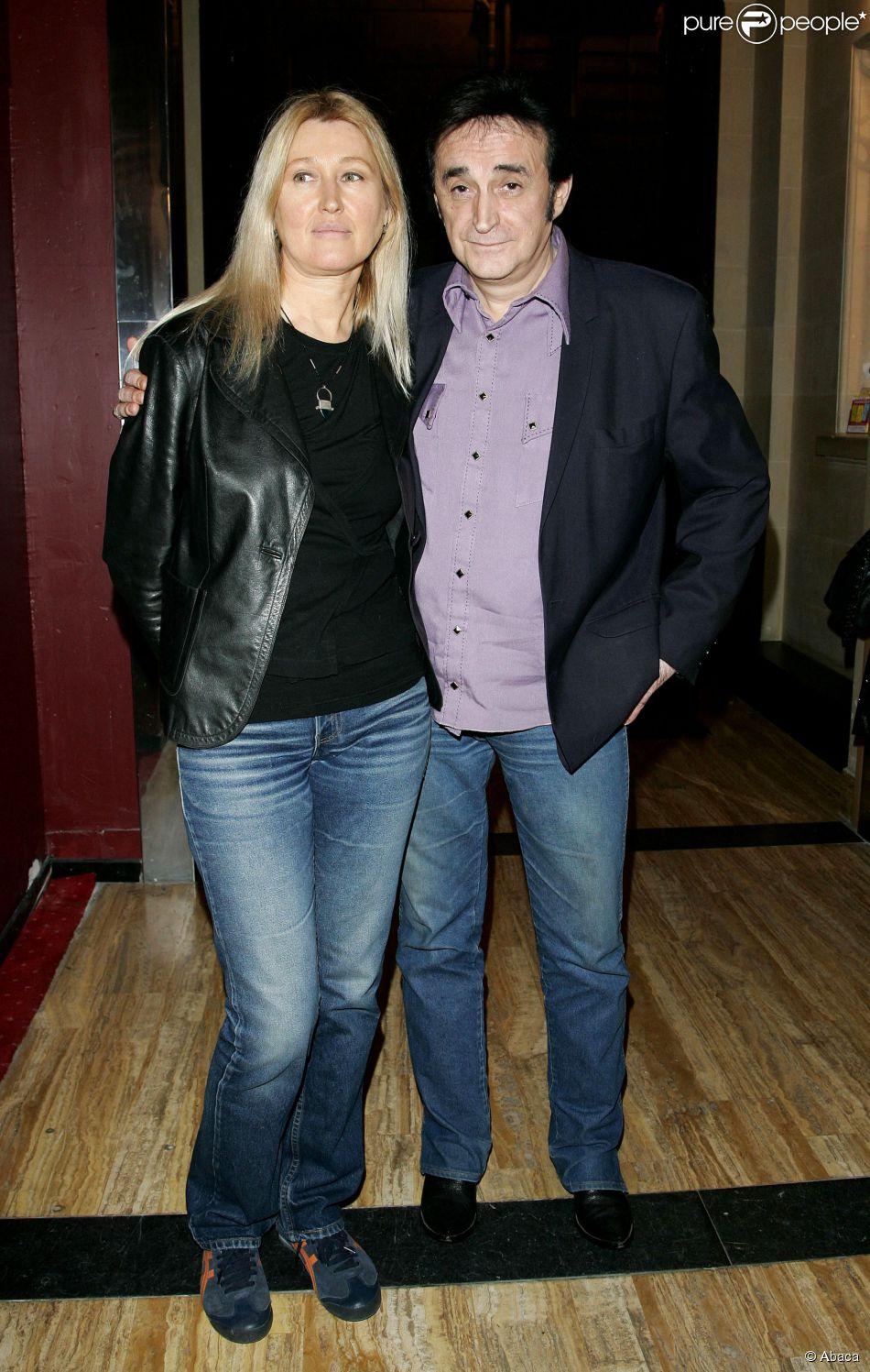 Dick Rivers et son épouse Babette à Paris, le 27 mars 2006.