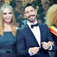 Tonya Kinzinger (robe Elie Saab) et Stephane Rodrigues (Secret Story 8) - Cérémonie Top Model Belgium 2014 au Lido à Paris, le 23 novembre 2014