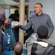 Barack Obama et sa famille ont distribué de la nourriture à Washington, le 26 novembre 20144