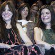 """Chiara Mastroianni, Charlotte Gainsbourg à la première du film """"3 Coeurs"""" lors du 71e festival international du film de Venise, le 30 août 2014."""