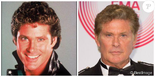 David Hasselhoff en 1987 et en 2014 - ©BESTIMAGE