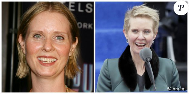 Cynthia Nixon en 2000 et en 2014 - © Abaca Press