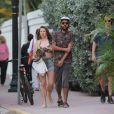 Noah Becker et sa petite amie à Miami, le 7 décembre 2014.