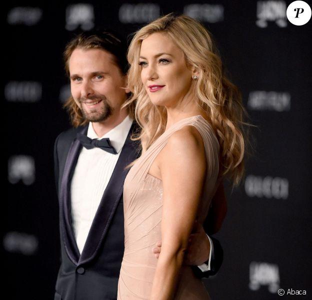 Matthew Bellamy et Kate Hudson lors de la soirée LACMA à Los Angeles le 1er novembre 2014