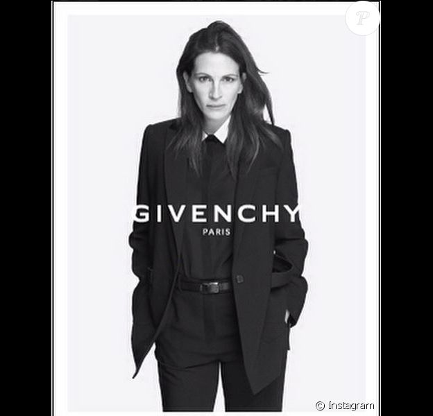 Julia Roberts, égérie masculine de la campagne publicitaire printemps-été 2015 de Givenchy. Photo par Mert et Marcus.