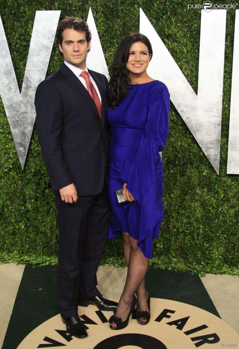 Henry Cavill et Gina Carano lors de la soirée Vanity Fair post Oscars à Los Angeles le 24 février 2013
