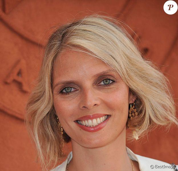 Sylvie Tellier au village des Internationaux de France de tennis de Roland Garros à Paris, le 8 juin 2014