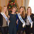 Adeline legris Croisel (5 ème dauphine Miss France 2015), Mathilde Cerf , Camille Cerf (Miss France 2015), Alyssa Wurtz (4ème dauphine Miss France 2015 ) - Anniversaire surprise (20 an) de Miss France 2015. Le 9 Décembre 2014.