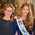 Mathilde Cerf et Camille Cerf (Miss France 2015) - Anniversaire surprise (20 ans) de Miss France 2015, Camille Cerf et de sa soeur jumelle Mathilde au Shangri-La Hotel Paris. Le 9 Décembre 2014