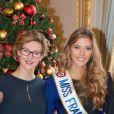 Mathilde Cerf et Camille Cerf (Miss France 2015 ) - Anniversaire surprise ( 20 ans) de Miss France 2015, Camille Cerf et de sa soeur jumelle Mathilde au Shangri-La Hotel Paris. Le 9 Décembre 2014.