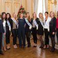 Laurence ( mère de Camille Cerf, Miss France 2015), Malika Ménard (Miss France 2010 ), Morgane Laporte (Miss Auvergne 2014), Adeline legris Croisel (5eme dauphine ), Mathilde Cerf, Camille Cerf ( Miss France 2015), Alyssa Wurtz (4ème dauphine), Margaux Savarit (Miss Ile-De-France) ,Hinarere Taputu (Miss Tahiti - 1ère Dauphine 2015), Sylvie Tellier ( Miss France 2002), Rachel Legrain-Trapani ( Miss France 2007) - Anniversaire surprise ( 20 ans) de Miss France 2015, Camille Cerf et de sa soeur jumelle Mathilde au Shangri-La Hotel Paris. Le 9 Décembre 2014.