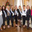 Malika Ménard (Miss France 2010), Morgane Laporte (Miss Auvergne 2014), Adeline legris Croisel (5eme dauphine ), Camille Cerf ( Miss France 2015), Alyssa Wurtz (4ème dauphine), Margaux Savarit (Miss Ile-De-France) ,Hinarere Taputu (Miss Tahiti - 1ère Dauphine 2015), Sylvie Tellier ( Miss France 2002), Rachel Legrain-Trapani ( Miss France 2007) - Anniversaire surprise ( 20 ans) de Miss France 2015, Camille Cerf et de sa soeur jumelle Mathilde au Shangri-La Hotel Paris. Le 9 Décembre 2014.