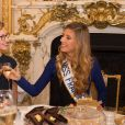 Mathilde Cerf et Camille Cerf ( Miss France 2015) - Anniversaire surprise ( 20 ans) de Miss France 2015, Camille Cerf et de sa soeur jumelle Mathilde au Shangri-La Hotel Paris. Le 9 Décembre 2014.