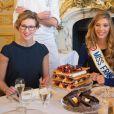 Camille Cerf (Miss France 2015) et sa soeur jumelle Mathilde Cerf - Anniversaire surprise (20 ans) de Miss France 2015, Camille Cerf et de sa soeur jumelle Mathilde au Shangri-La Hotel Paris. Le 9 Décembre 2014.