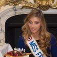 Camille Cerf (Miss France 2015 ) - Anniversaire surprise ( 20 ans) de Miss France 2015, Camille Cerf et de sa soeur jumelle Mathilde au Shangri-La Hotel Paris. Le 9 Décembre 2014.