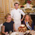Mathilde Cerf (soeur jumelle ) et Camille Cerf (Miss France 2015 ), Rachel Legrain-Trapani ( Miss France 2007 ) - Anniversaire surprise ( 20 ans) de Miss France 2015, Camille Cerf et de sa soeur jumelle Mathilde au Shangri-La Hotel Paris. Le 9 Décembre 2014.