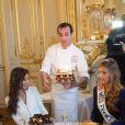 Malika Ménard (Miss France 2010 ) et Camille Cerf ( Miss France 2015) - Anniversaire surprise ( 20 ans) de Miss France 2015, Camille Cerf et de sa soeur jumelle Mathilde au Shangri-La Hotel Paris. Le 9 Décembre 2014.