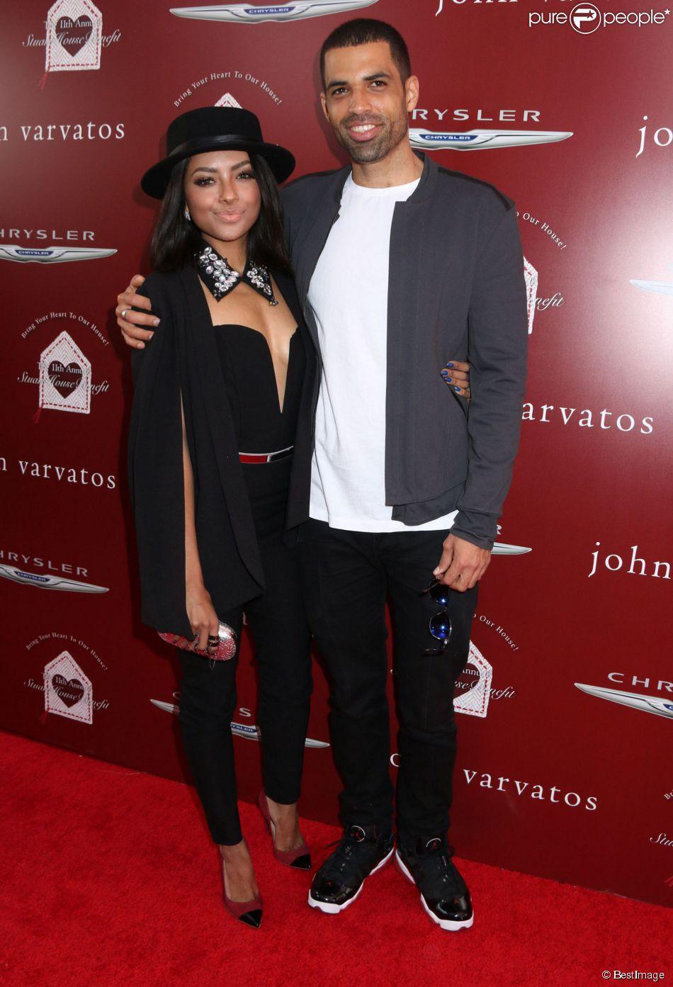 Kat Graham et son fiancé Cottrell Guidry - Soirée de charité annuelle John Varvatos à West Hollywood, le 13 avril 2014.