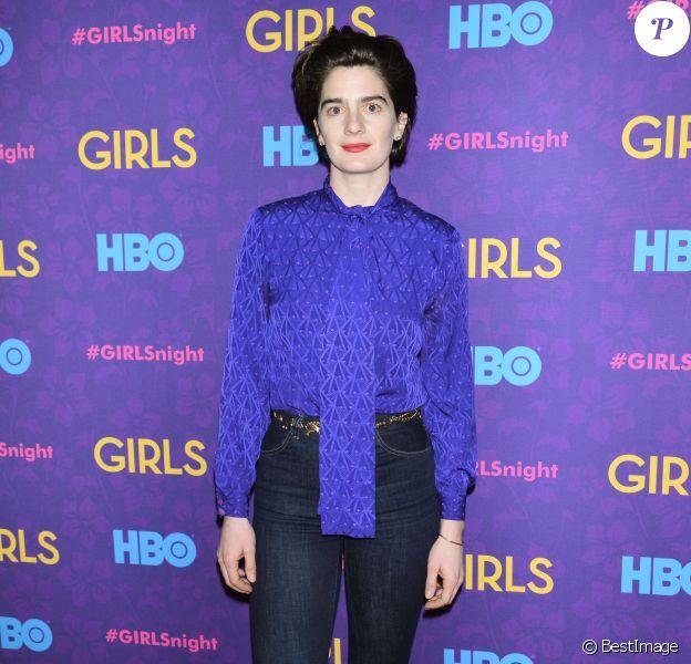 """Gaby Hoffmann à la première de la 3e saison de la série """"Girls"""" au Jazz au Lincoln Center a New York, le 6 janvier 2014."""