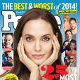 Angelina Jolie en couverture de People pour leur numéro de fin d'année.