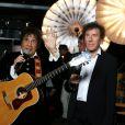 """Exclusif - Laurent Voulzy et Alain Souchon - Backstage de l'enregistrement de l'émission spéciale """"Johnny, la soirée événement"""", qui sera diffusée sur TF1 en prime time le 20 décembre 2014."""
