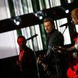 """Exclusif - Johnny Hallyday et Ed Sheeran - Enregistrement de l'émission spéciale """"Johnny, la soirée événement"""", qui sera diffusée sur TF1 en prime time le 20 décembre 2014."""