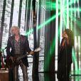 """Exclusif - Louis Bertignac et Shy'm - Enregistrement de l'émission spéciale """"Johnny, la soirée événement"""", qui sera diffusée sur TF1 en prime time le 20 décembre 2014."""