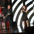 """Exclusif - Johnny Hallyday et Zaz - Enregistrement de l'émission spéciale """"Johnny, la soirée événement"""", qui sera diffusée sur TF1 en prime time le 20 décembre 2014."""