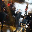 """Exclusif - Johnny Hallyday et Julien Clerc - Enregistrement de l'émission spéciale """"Johnny, la soirée événement"""", qui sera diffusée sur TF1 en prime time le 20 décembre 2014."""