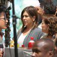 """Jennifer Aniston sur le tournage du film """"Cake"""" à Los Angeles, le 22 avril 2014."""