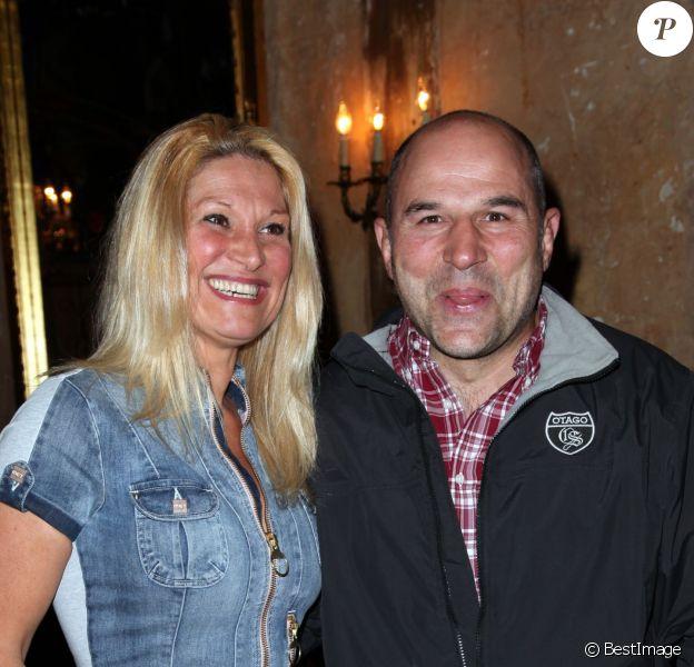 Vincent Moscato et sa femme Krystel au Réservoir, à Paris, en avril 2012.
