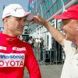Niki Lauda avec Ralf Schumacher