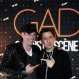 """Exclusif - Gad Elmaleh et Garou - People au spectacle de Gad Elmaleh """"20 ans de Scène"""" au Palais des Sports à Paris le 12 décembre 2014"""