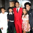 "Willow Smith, Jada Pinkett, Will Smith, Jaden Smith et Trey Smith (fils aîné de Will) - Première du film ""After Earth"" à New York, le 29 mai 2013."